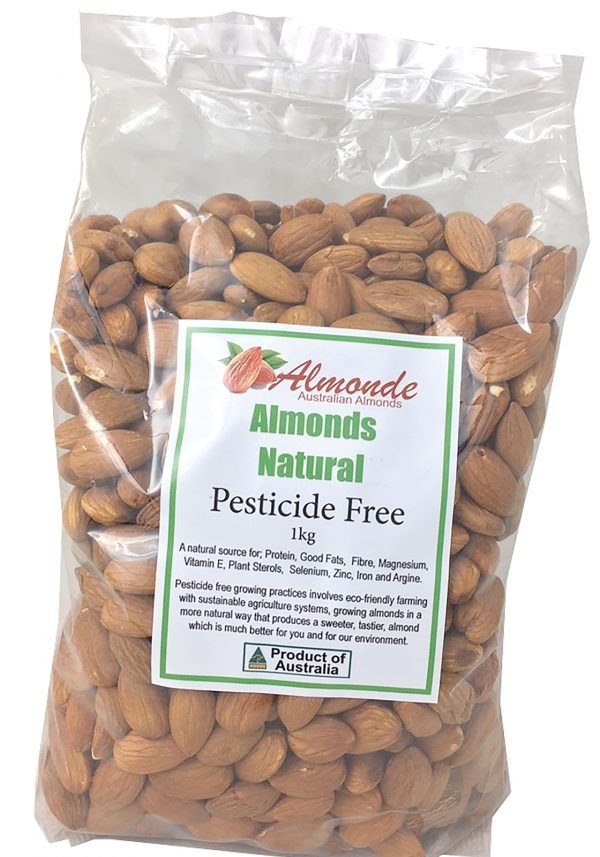 Pesticide Free Premium Natural Almonds 1kg