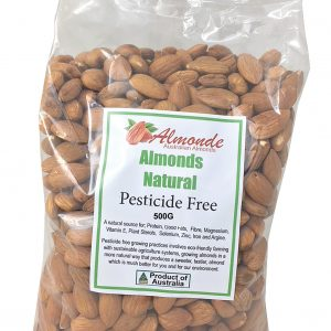 Pesticide Free Premium Natural Almonds 500g